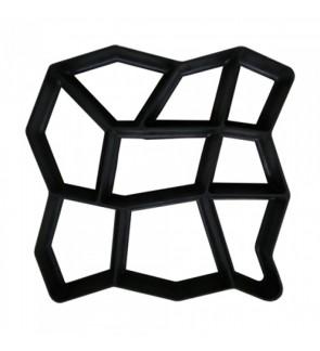 GARDEN PAVEMENT MAKER PLASTIC MOULD   500MM (L) X 500MM (W) X 45MM (H)