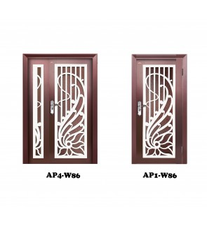 [PACKAGE DEAL] THC Security Door Expert AP4+AP1 Single Layer (Mild Steel & Iron Grille)