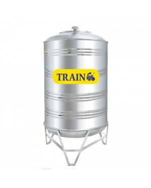 Train SM10K Vertical Round Bottom With Stand 304 Stainless Steel Water Tank 500L/110G