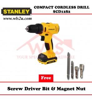 STANLEY LI DRILL DRIVER 10.8V SCD12S2-B1