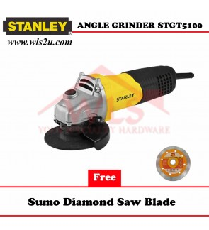 STANLEY TOGGLE SWITCH SMALL ANGLE GRINDER 580W STGT5100-XD