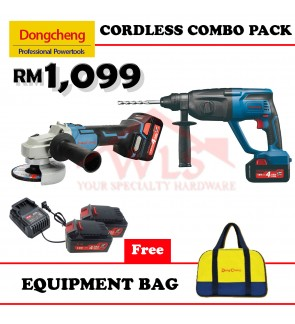 DONGCHENG 18V CORDLESS COMBO PACK HAMMER DRILL + ANGLE GRINDER