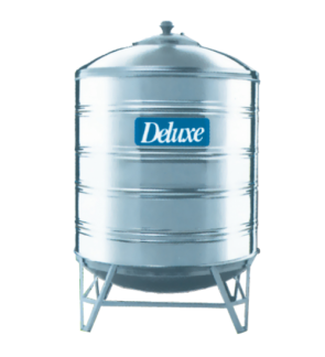 Deluxe CL25K Vertical Round Bottom With Stand 304 Stainless Steel Water Tank 1000L/220G